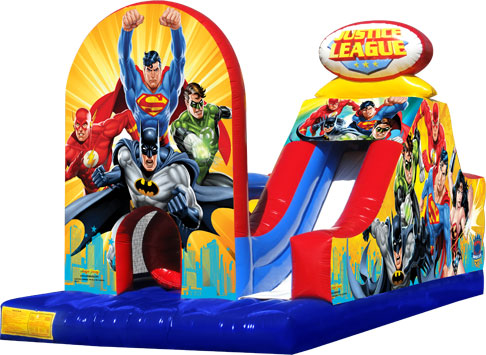 justice league obstacle course - super hero -  - bouncy castle rentals - toronto