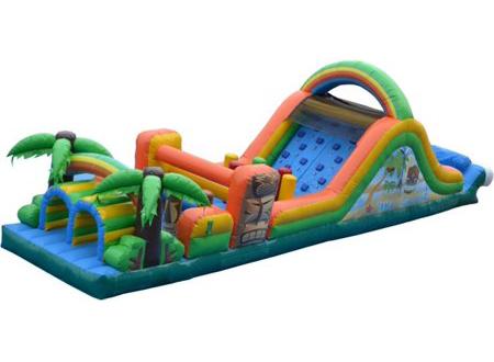tiki island obstacle course - bouncy castle rentals - toronto