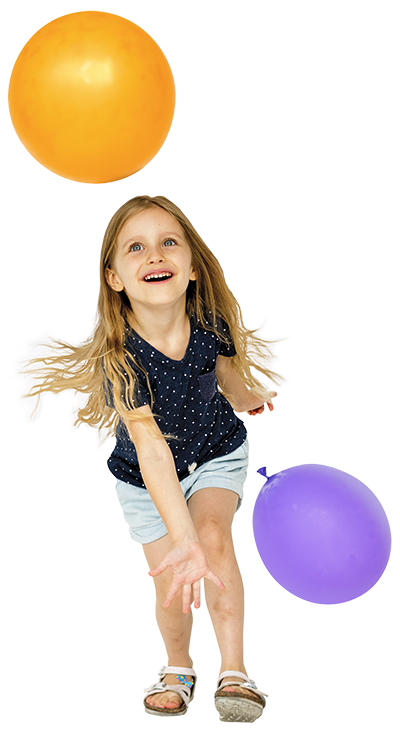 child and balloon - carnival rentals  - astro amusements - toronto - gta